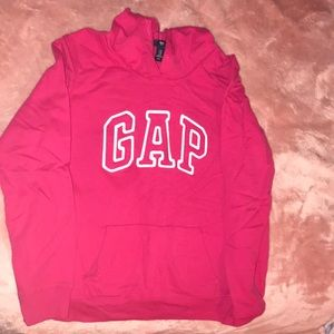 Pink gap over the head sweater